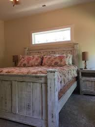 Reclaimed wood bed frame (WHITE) – Griffin Furniture | Bedroom ideas