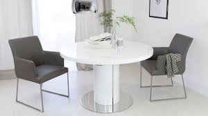 white round dining table. Modern White Gloss Extending Dining Table Round