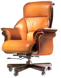 swivel wood desk chair office chairs ideas with brown leather executive model and wooden base uk