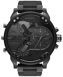 diesel watches at macy s diesel watch macy s diesel men s black stainless steel and silicone bracelet watch 46x54mm dz7396