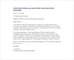 Follow Up Email After Interview Sample Subject Line Well Visualize