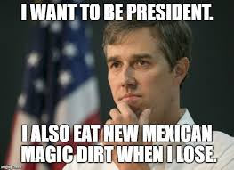 Image result for beto eating dirt