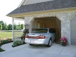 retractable garage door screensFrancis ZIPROLL Screen  Outdoor Retractable Garage Screen Photo