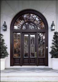 exterior door with window that opens front doors with glass big arched glass toplight