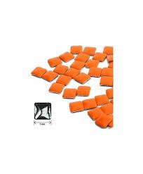 Ozdoby Na Nehty čtverec Neon Orange