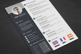 Professional Resume Cv Template Free Psd Files Graphic Web Photoshop