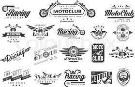Vintage Logo Vector Vector Set Of Original Bikers Emblems Stock Vector Colourbox