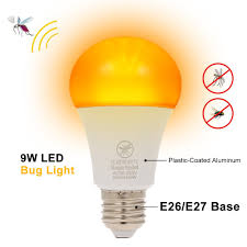 Yellow Light Bulbs Repel Bugs Best Yellow Led Bug Light Bulb No Blue Light Mosquito Repellent 9w Sale Online Shopping Cafago Com