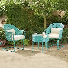 crossman piece outdoor bistro: amazoncom members mark parker  piece bistro set blue patio lawn amp garden