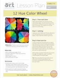 Elementary Art Lesson Plans Lesson On Color Magdalene Project Org