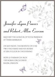 Wedding Invitations Templates Purple Butterfly Wedding Invitation Exquisite Purple Butterfly Ribbon Lace