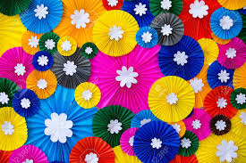 Paper Flower Background Colorful Paper Flowers Wall Background