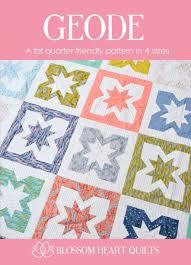 New: Geode Quilt Pattern | Blossom Heart Quilts & Geode quilt pattern front cover by Blossom Heart Quilts Adamdwight.com