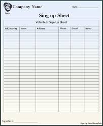 Sign Up Template Outstanding Potluck Sign Up Sheet Template