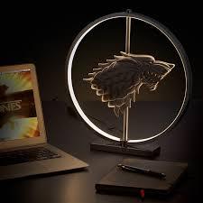 Game Of Thrones Stark House Crest Wooden Plaque of Thrones LED Stark Crest Lamp 30