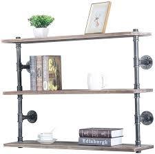 industrial pipe shelf wall mounted