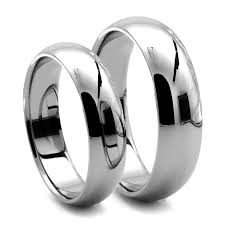 Classico His Hers Tungsten Dome Rings J R Yates Wedding Bands