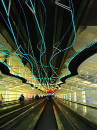 Light Tunnel B Q I Love Airports Chicago Light Tunnel Sweet Home Chicago