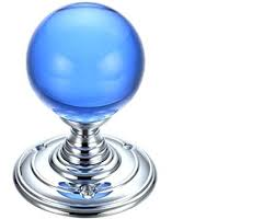 blue glass door knobs. Blue Glass Door Knob Ball Knobs Polished Chrome Sold Pertaining To Prepare 11 B
