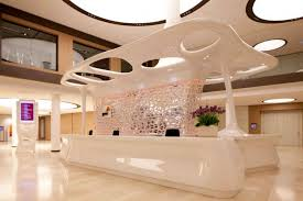 Lobby Reception Desk in Luxury Design
