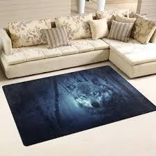 wolf forest area rug carpet non slip floor mat doormats living room bedroom x furniture rugs