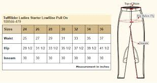 Tailored Sportsman Size Chart Tuffrider Starter Low Rise Pull On Breeches