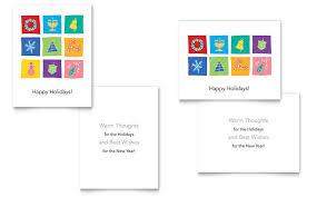 Microsoft Word Birthday Card Template Holiday Icons