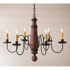 large norfolk wood chandelier in hartford pumpkin