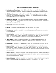 protestant reformation definitions
