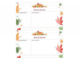 Free Thanksgiving Templates For Word Thanksgiving Recipe Cards Printable Thanksgiving Recipe Cards
