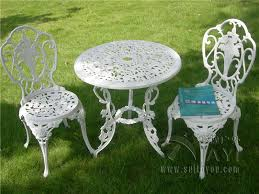 white metal outdoor furniture. Contemporary Outdoor White Metal Outdoor Furniture With U