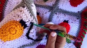 Crochet Christmas Lights Blanket Crochet Tip Surface Slip Stitching Crochet Christmas Lights