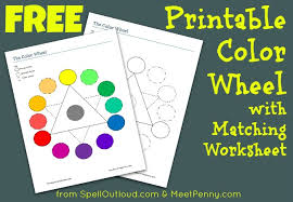 The first worksheet it's easy for level 1 but the second it's more dificult and it is for level 2. Free Printable Colorwheel With Matching Worksheet