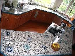 tiled kitchen countertops hand painted granite tile kitchen countertop ideas