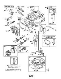 Contemporary briggs and stratton lawn mower engine parts diagram