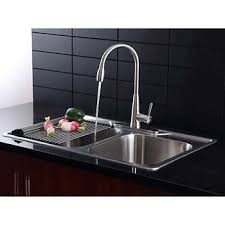 Kitchen sinks and faucets Chrome Home Inter Afa Stainless Double Bowl 33