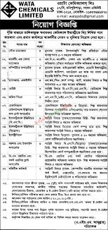 Wata Chemicals Ltd Office Peon Jobs Bdjobstoday Com