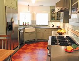 Linoleum Flooring Rectangle Linoleum Kitchen Floor Side By Side