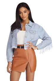 fringe fashionista jean jacket