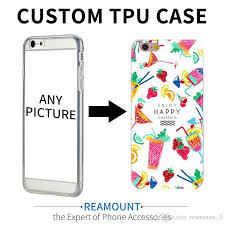 custom logo design diy tpu phone case for iphone 5 5s se 6 6s 7 plus customized printed back cover for iphone clear cell phone cases protective cell phone