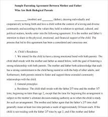 Sample Child Support Agreements Magdalene Project Org