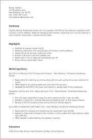 Warehouse Worker Resume Best Warehouse Job Resume Sample Warehouse Worker Resume Sample Warehouse