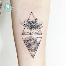 Hc105 299 Body Art černá Bílá Kresba Malý Prvek Malý Had Trojúhelník