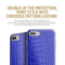 amazon labc iphone 8 plus iphone 7 plus case crocodile case luxury pu leather ultra slim cover crocodile pattern design case black