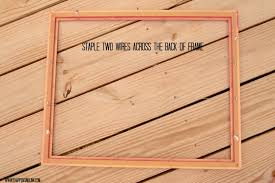 photo prop wire take the empty wooden frame