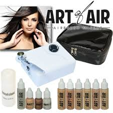 dels about art of air professional airbrush cosmetic makeup kit fair to um shades