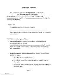Sample Agreement Commission Sales Proposal Letter