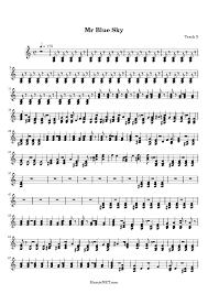 mr blue sky piano sheet music free mr blue sky sheet music mr blue sky score hamienet com
