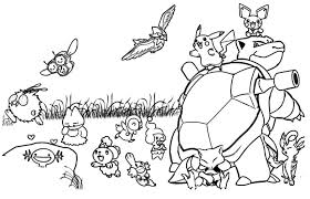 Small Picture Pokemon Coloring Pages Pikachu Coloring Pages 3339