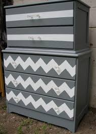 chevron painted furniture. how to paint a chevron dresser painted furniture